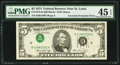 Error Notes:Inverted Third Printings, Fr. 1973-H $5 1974 Federal Reserve Note. PMG Choice Extremely Fine45 EPQ.. ...