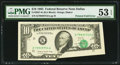 Error Notes:Foldovers, Fr. 2027-K $10 1985 Federal Reserve Note. PMG About Uncirculated 53EPQ.. ...