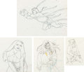 Animation Art:Production Drawing, Fire and Ice Animation Drawings Group of 7 (Ralph Bakshi,1983).... (Total: 7 Original Art)