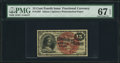 Fractional Currency:Fourth Issue, Fr. 1267 15¢ Fourth Issue PMG Superb Gem Unc 67 EPQ.. ...