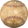 Baseball Collectibles:Balls, 1933 Babe Ruth Single Signed Home Run Baseball with PeriodNewspaper Documentation.. ...