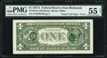 Fr. 1910-E $1 1977A Federal Reserve Note. PMG About Uncirculated 55 Net