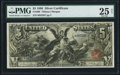 Large Size:Silver Certificates, Fr. 268 $5 1896 Silver Certificate PMG Very Fine 25 Net.. ...