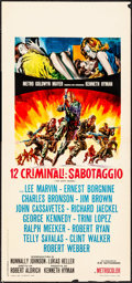 "Movie Posters:War, The Dirty Dozen (MGM, 1967). Italian Locandina (12.75"" X 27.5"")G.D. Stefano Artwork. War.. ..."