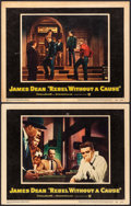 """Movie Posters:Drama, Rebel Without a Cause (Warner Brothers, 1955). Lobby Cards (2) (11"""" X 14""""). Drama.. ... (Total: 2 Items)"""