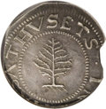 1652 SHILNG Pine Tree Shilling, Large Planchet AU58 NGC. Pellets at trunk. Noe-1, Crosby 12-I, R.2. 71.5 grains. This is...