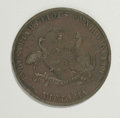 Australian Tokens: , Australian 19th Century Merchant Group Lot. Includes two tokens:one issued by Gipps Land Hardware Company, Port Albert & Sa...(Total: 2 tokens)