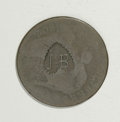 Counterstamps: , Counterstamped Group Lot, Letters and Hearts. This two-piece lot consists of early U.S. large cents counterstamped with toot... (Total: 2 tokens)