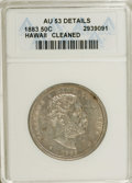 Coins of Hawaii: , 1883 50C Hawaii Half Dollar--Cleaned--ANACS. AU53 Details. NGCCensus: (11/173). PCGS Population (21/247). Mintage: 700,000...