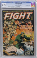 "Golden Age (1938-1955):War, Fight Comics #28 Davis Crippen (""D"" Copy) pedigree (Fiction House,1943) CGC VF- 7.5 Off-white to white pages...."