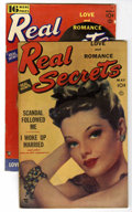 """Golden Age (1938-1955):Romance, Real Secrets #4, and 5 Group - Davis Crippen (""""D"""" Copy) pedigree(Ace Periodicals, 1950).... (Total: 2)"""