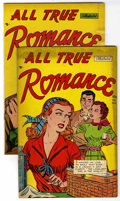 "Golden Age (1938-1955):Romance, All True Romance #4, and 7 Group - Davis Crippen (""D"" Copy) pedigree (Comic Media, 1952).... (Total: 2)"