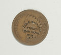 Counterstamps: , 1873-75 Ira C. Haskins Counterstamped Indian Cent, Amherst, MA, Ma-AM-8. This is an unlisted variety with the added word Mam...