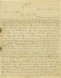 "Military & Patriotic:Revolutionary War, Nathaniel Gorham (1738-1796) President of the Continental Congress(1786), Autograph Letter Signed, ""Nath Gorham"", one p..."