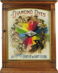 Advertising:Signs, Appropriately Titled the Ages of Woman Dye Cabinet This piecereflects a Victorian view of women along with advertising the ...