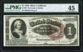 Large Size:Silver Certificates, Fr. 220 $1 1886 Silver Certificate PMG Choice Extremely Fine 45.....
