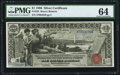 Large Size:Silver Certificates, Fr. 225 $1 1896 Silver Certificate PMG Choice Uncirculated 64.. ...