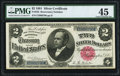 Large Size:Silver Certificates, Fr. 245 $2 1891 Silver Certificate PMG Choice Extremely Fine 45.....