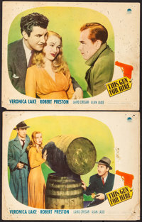 """This Gun for Hire (Paramount, 1942). Lobby Cards (2) (11"""" X 14""""). Film Noir. ... (Total: 2 Items)"""