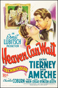 """Movie Posters:Comedy, Heaven Can Wait (20th Century Fox, 1943). One Sheet (27.25"""" X 41"""").Comedy.. ..."""