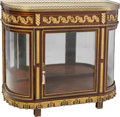 Furniture , A Veuve Paul Sormani & Fils Louis XVI-Style Gilt Bronze Mounted Mahogany Demilune Display Cabinet with Marble Top, Paris, ci...