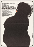 "Movie Posters:Foreign, Amarcord (CRF, 1976). Polish One Sheet (23.5"" X 33""). Foreign.. ..."