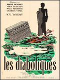 "Movie Posters:Foreign, Les Diaboliques (Filmsonor, R-1960s). French Moyenne (23.25"" X 31.5"") Raymond Gid Artwork. Foreign.. ..."