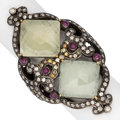 Estate Jewelry:Rings, Colored Diamond, Ruby, Sapphire, Silver, Gold, Silver Ring. ...