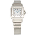 Estate Jewelry:Watches, Cartier Lady's Stainless Steel Santos Watch. ...