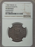 1788 1C Massachusetts Cent, Period, -- Burnished -- Details NGC. VF. NGC Census: (0/0). PCGS Population: (0/0)....(PCGS#...