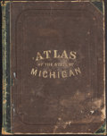 Books:Maps & Atlases, H. F. Walling. Atlas of the State of Michigan. Detroit: [1873]. First edition....