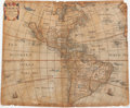 Books:Maps & Atlases, Philip Chetwind. Americæ. [London]: 1666. Map of the Americas....
