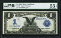 Large Size:Silver Certificates, Fr. 230 $1 1899 Silver Certificate PMG About Uncirculated 55 EPQ.....