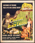 "Movie Posters:Horror, Creature from the Black Lagoon (Universal International, 1954).Trimmed Window Card (14"" X 17.5"") Reynold Brown Artwork. Hor..."