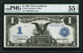 Large Size:Silver Certificates, Fr. 236 $1 1899 Silver Certificate PMG About Uncirculated 55 EPQ.....