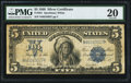 Large Size:Silver Certificates, Fr. 281 $5 1899 Silver Certificate PMG Very Fine 20.. ...