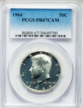 Proof Kennedy Half Dollars: , 1964 50C PR67 Cameo PCGS. PCGS Population: (912/1252). NGC Census: (1452/1983). PR67. ...