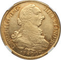 Chile, Chile: Charles IV gold 8 Escudos 1800 So-AJ AU Details (SurfaceHairlines) NGC,...