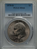 Eisenhower Dollars, 1971 $1 MS65 PCGS. This lot will also include a: 1978-D $1 MS66 PCGS.... (Total: 2 coins)