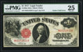 Error Notes:Large Size Errors, Fr. 38 $1 1917 Mule Legal Tender PMG Very Fine 25.. ...
