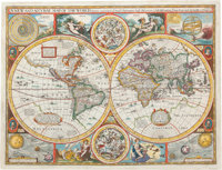 John Speed. A new and Accurat Map of the World. Drawne according to ye truest Descriptions l