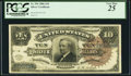 Large Size:Silver Certificates, Fr. 296 $10 1886 Silver Certificate PCGS Very Fine 25.. ...