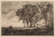 Jean-Baptiste-Camille Corot (French, 1796-1875) Paysage d'Italie, First state of three, 1865 Etching on paper 6-1/4 x