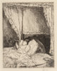 Childe Hassam (American, 1859-1935) Reading in Bed, 1915 Etching on paper 6-7/8 x 5-3/8 inches (17.5 x 13.7 cm) (plat