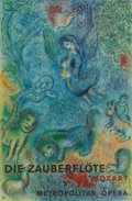 Fine Art - Work on Paper:Print, After Marc Chagall . By Charles Sorlier. Die Zauberflote Mozart Metropolitan Opera, poster. Lithograph in colors on ...