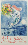 Fine Art - Work on Paper:Print, After Marc Chagall . The Bay of Angel, poster, 1962.Lithograph in colors on paper. 39-1/4 x 24-3/4 inches (99.7 x 62.9...