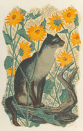 Fine Art - Work on Paper, Edith Anne Hamlin (American, 1902-1992). Country Cat, 1958.Lithograph in colors on paper. 23-1/2 x 18 inches (59.7 x 45...