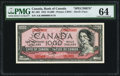 Canadian Currency, BC-36S $1000 1954 Devil's Face Specimen.. ...
