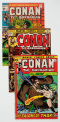 Bronze Age (1970-1979):Adventure, Conan the Barbarian Group of 9 (Marvel, 1971-73) Condition: Average VF+.... (Total: 9 Comic Books)