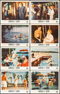 "Garden of Eden (Excelsior, 1954). Very Fine+. Lobby Card Set of 8 (11"" X 14""). Exploitation. ... (Total: 8 Ite..."